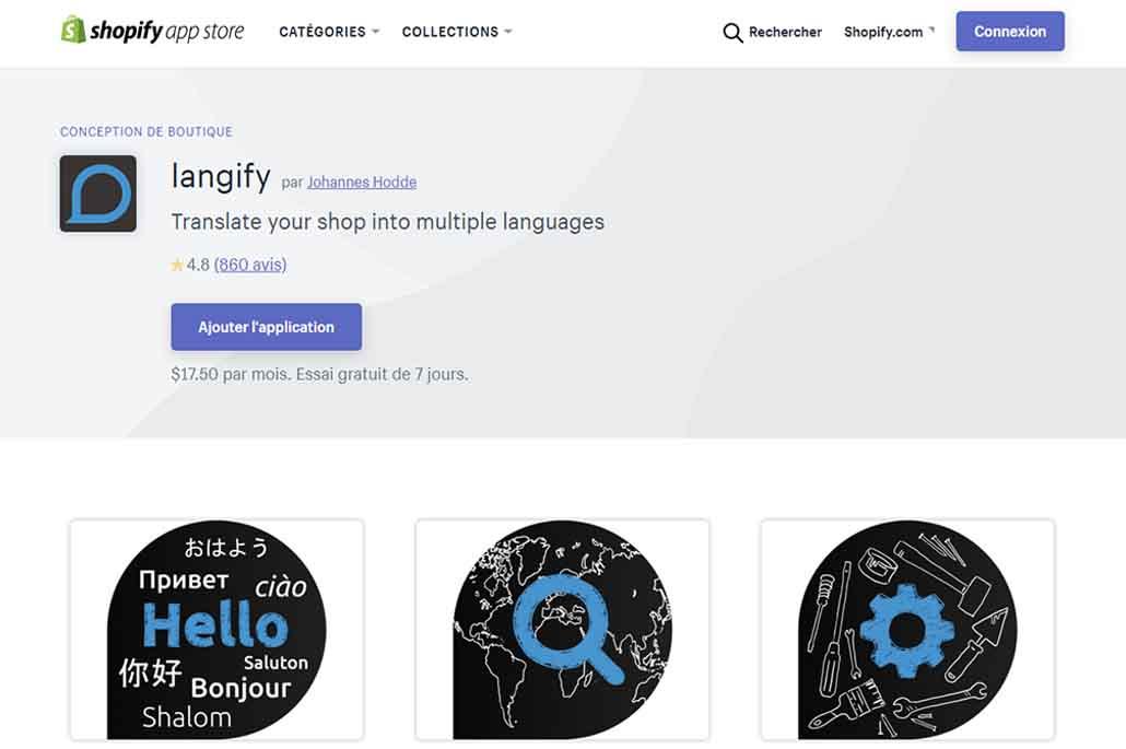 Shopify en français
